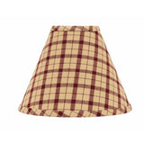 "Barn Red-Nutmeg Salem Check Barn Red 14"" Lampshade - Interiors by Elizabeth"