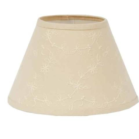 "Cream Candlewicking Cream 14"" Lampshade - Interiors by Elizabeth"