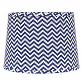 "Chevron 16"" Washer Tapered Drum Cobalt-White - Interiors by Elizabeth"