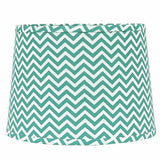 "Chevron 16"" Washer Tapered Drum Seafoam-White - Interiors by Elizabeth"