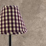 "Barn Red-Nutmeg Heritage House Check Barn Red 16"" Lampshade - Interiors by Elizabeth"