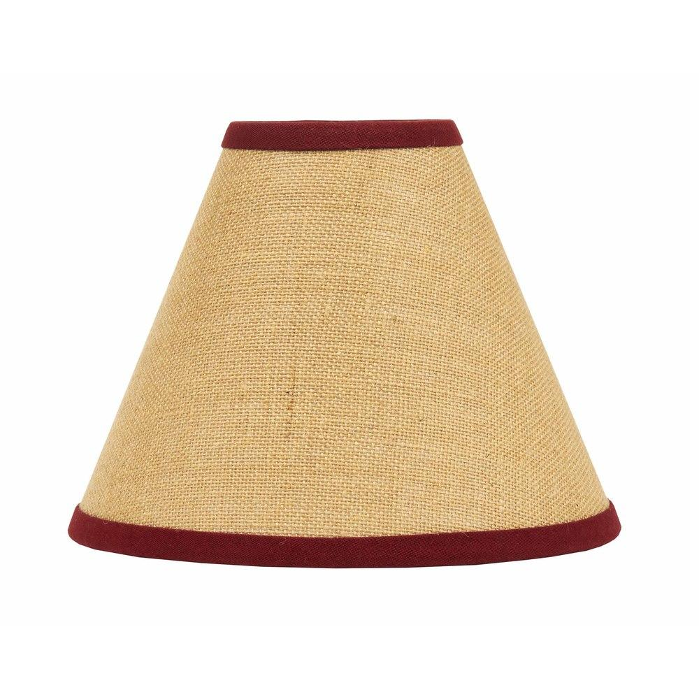 "Barn Red - Wheat Burlap Stripe 16"" Lampshade - Interiors by Elizabeth"