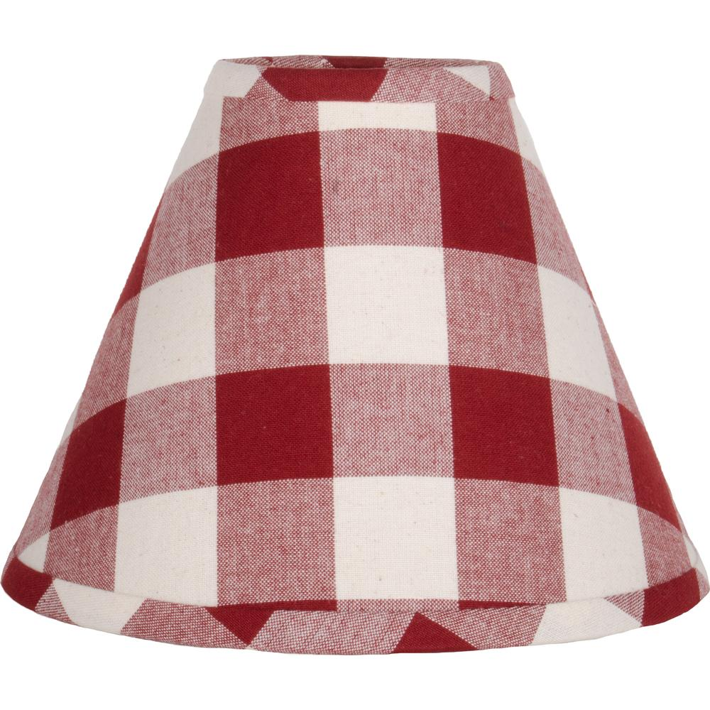 "Barn Red-Buttermilk Buffalo Check 16"" Washer - Interiors by Elizabeth"