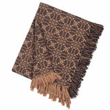 Black-Tan Marshfield Jacquard Afghan - Interiors by Elizabeth