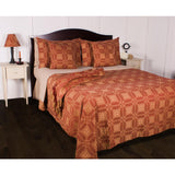 Barn Red-Nutmeg Smithfield Jacquard Bed Cover King - Interiors by Elizabeth