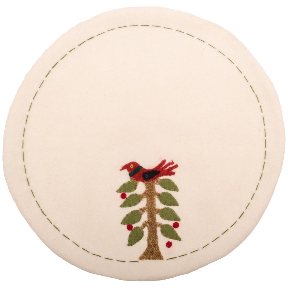 Nesting Tree Candle Mat Cream - Set of Two - Interiors by Elizabeth