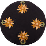 Sunflower Power Candle Mat Black - Set of Two - Interiors by Elizabeth