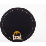 Cats on a Fence Candle Mat Black - Set of Two - Interiors by Elizabeth