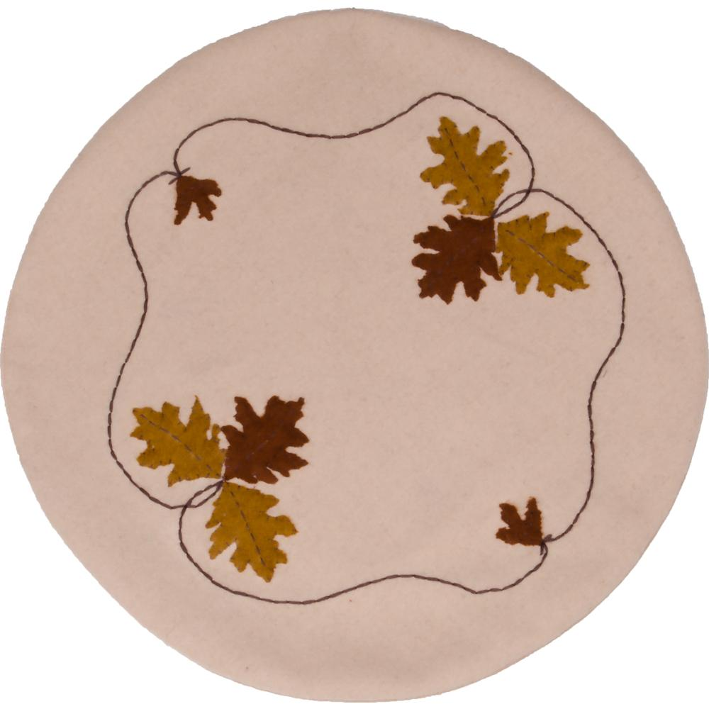 Fall Medley Nutmeg Candle Mat - Set of Two - Interiors by Elizabeth