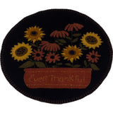 Ever Thankful Black Candle Mat - Set of Two