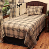 Oat - Black Chesterfield Check Black Bed Cover Queen