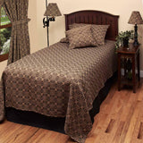Black-Tan Marshfield Jacquard Bed Cover Twin