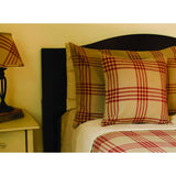 Oat-Barn Red Chesterfield Check Barn Red Bed Cover Twin - Interiors by Elizabeth
