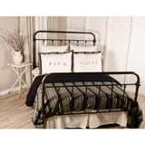 Black & Grey Stripe Duvet Queen Duvet Black - Interiors by Elizabeth