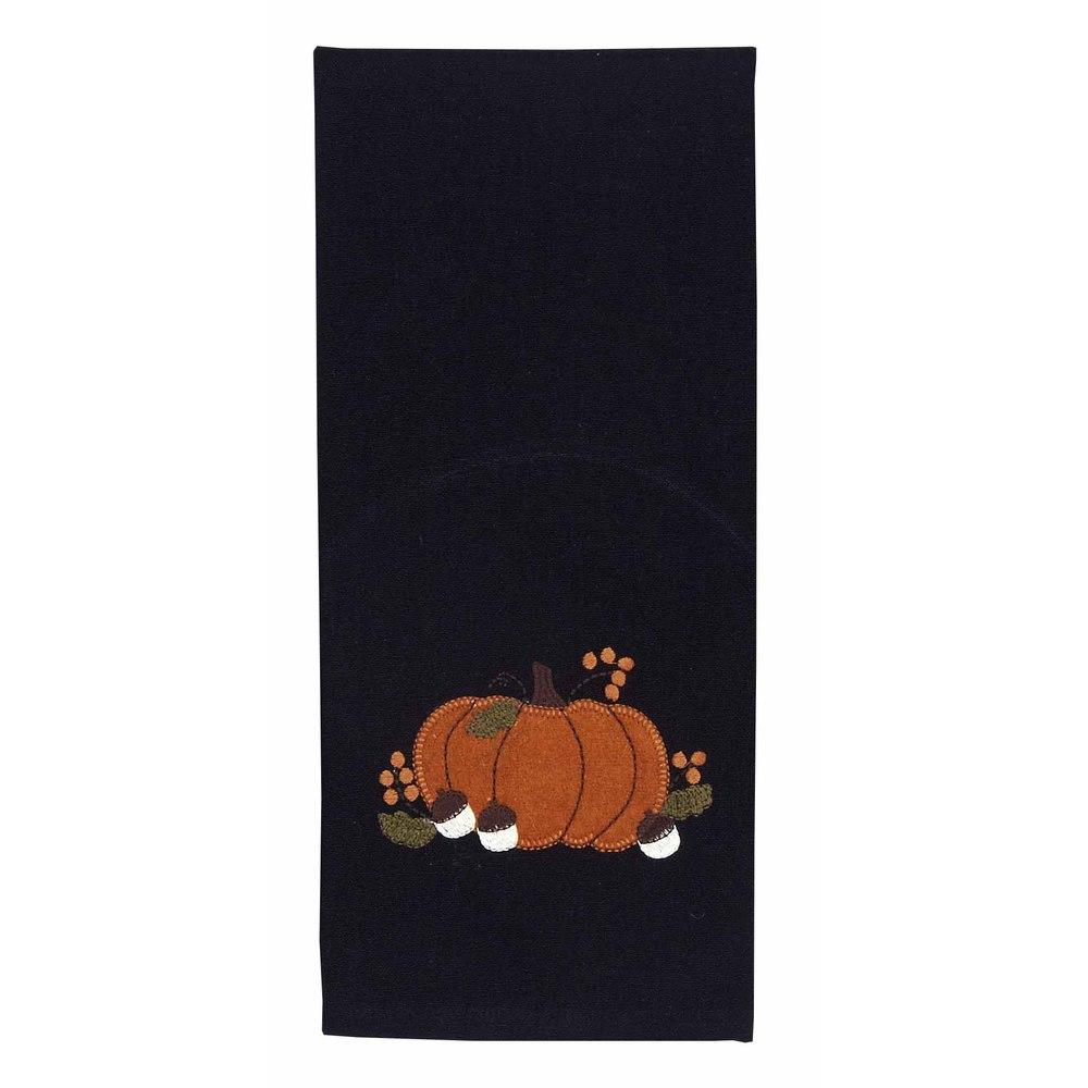 Fall Pumpkin And Acorn Towel - Set of Two - Interiors by Elizabeth