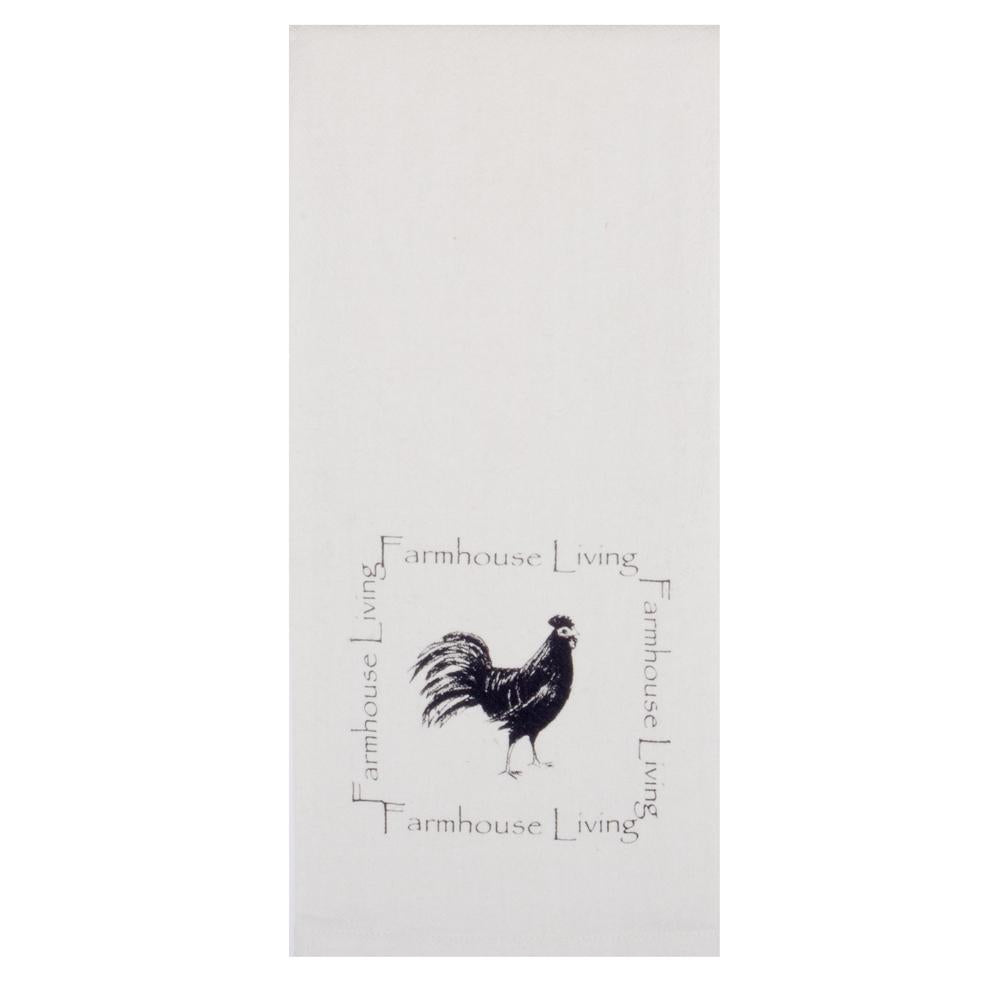 "Farmhouse Rooster 18"" x 28"" White - Set of 2 - Interiors by Elizabeth"