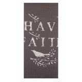 "Have Faith 18"" x 28"" Dark Grey - Set of 2 - Interiors by Elizabeth"