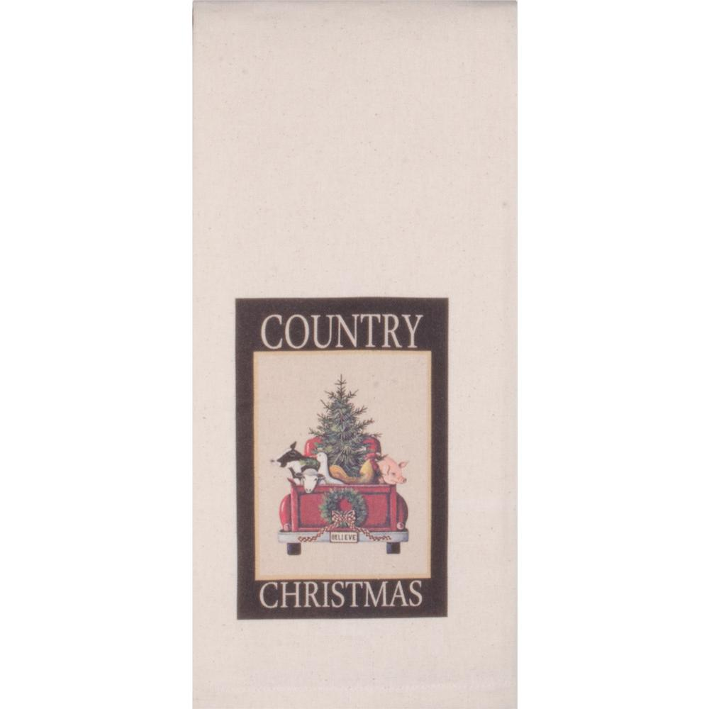Country Christmas Osenburg Towel - Set of Two - Interiors by Elizabeth