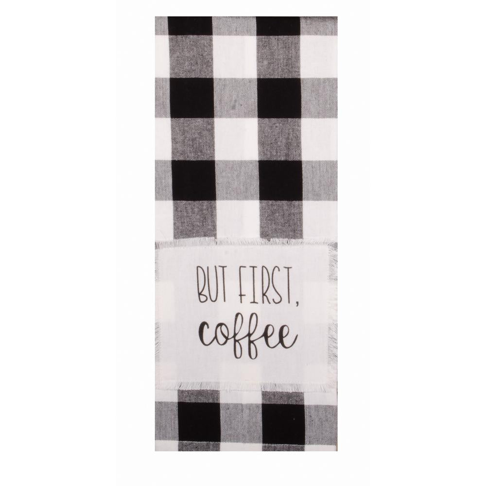 Buffalo Check But First Coffee Towel - Set of Two - Interiors by Elizabeth