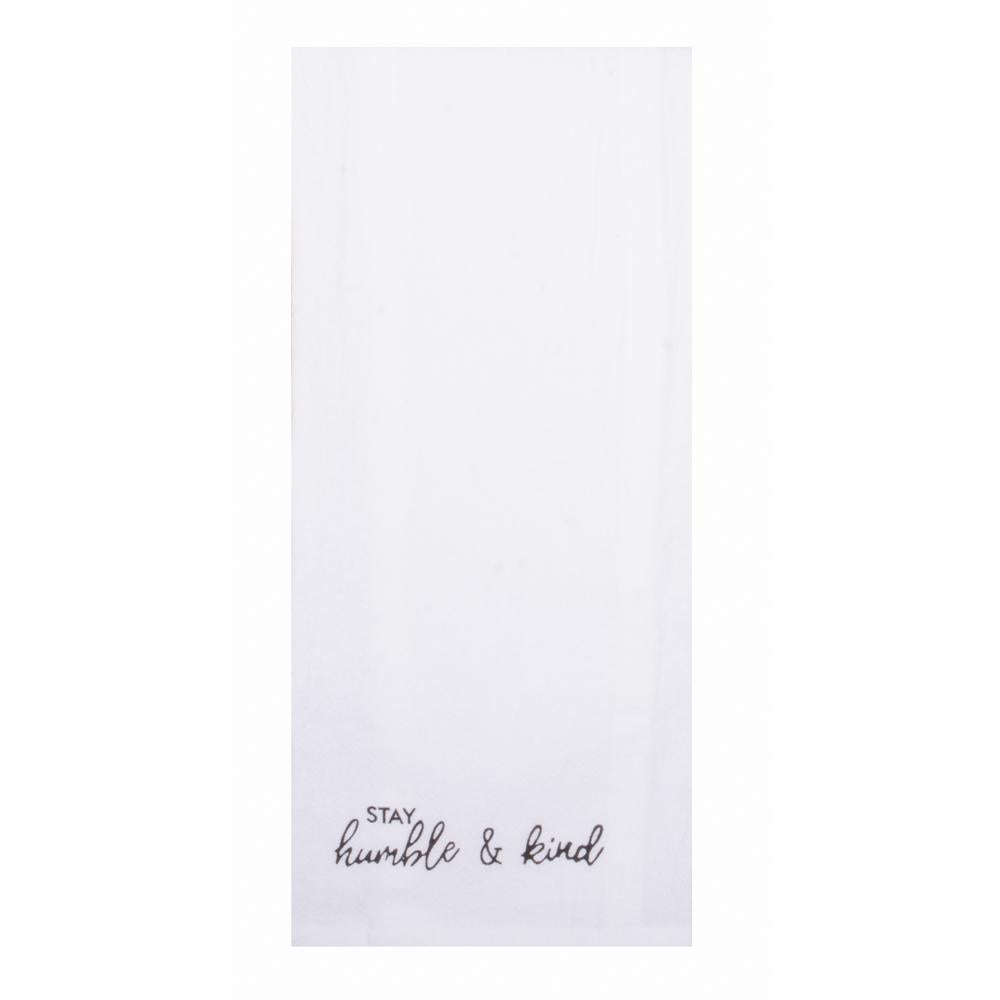 Solid Stay Humble & Kind Towel - Set of Two - Interiors by Elizabeth