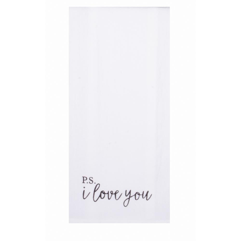 Solid P.S. I Love You Towel - Set of Two - Interiors by Elizabeth