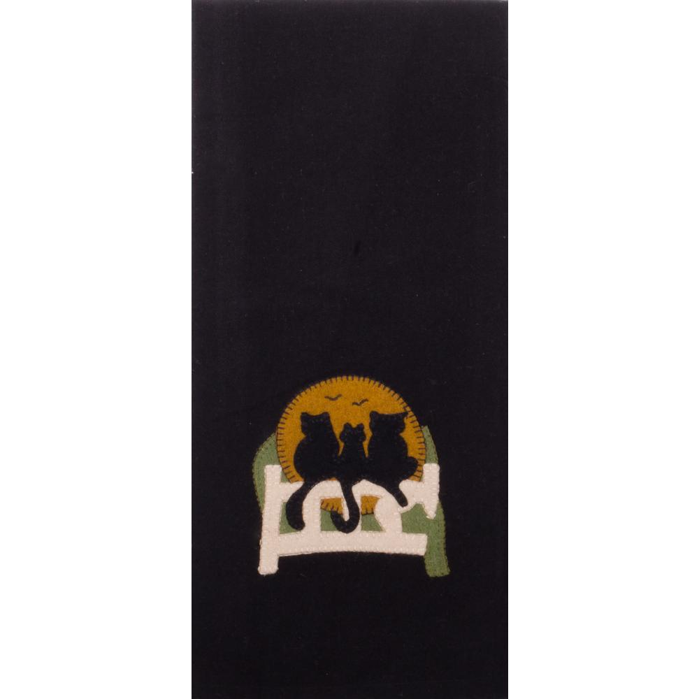 Cats on a Fence Towel Black - Set of Two - Interiors by Elizabeth