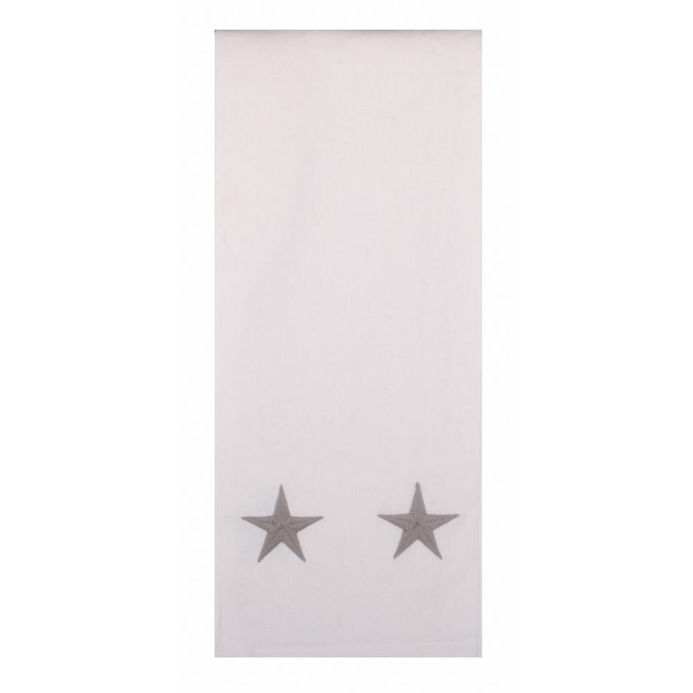 "Danville Star 18"" x 28"" Cream / Grey Star - Set of 2 - Interiors by Elizabeth"