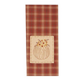 Pumpkin With Flowers Towel Orange - Set of Two - Interiors by Elizabeth