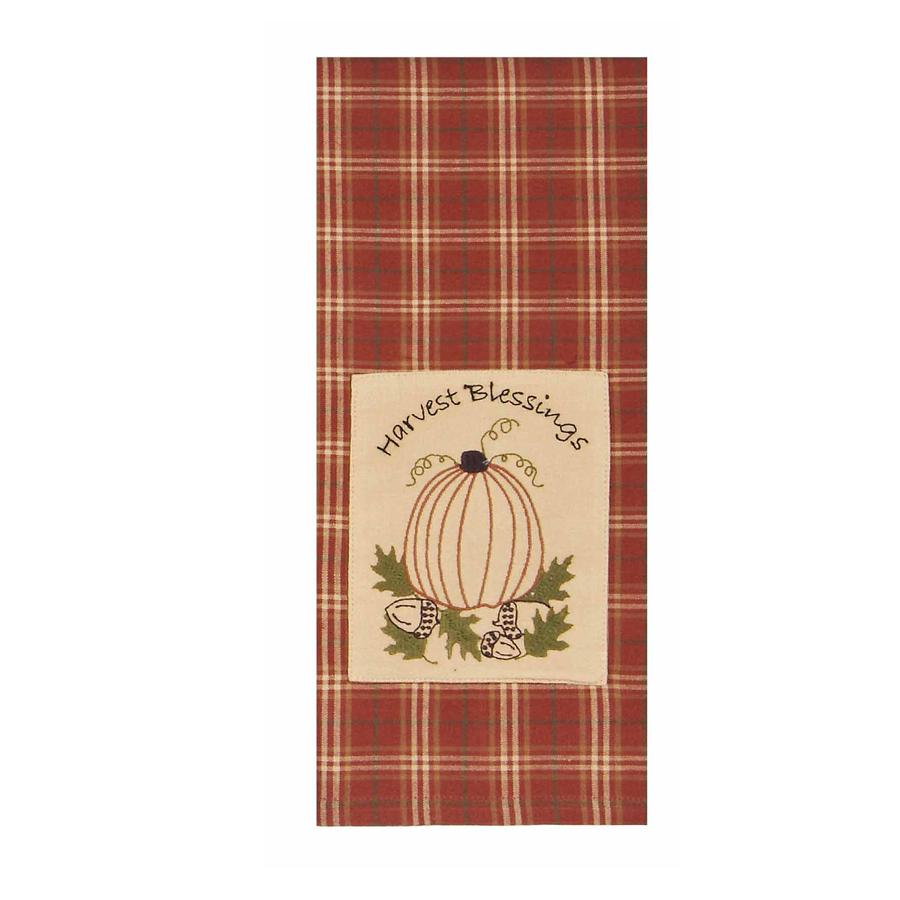 Harvest Blessings Towel Orange - Set of Two - Interiors by Elizabeth