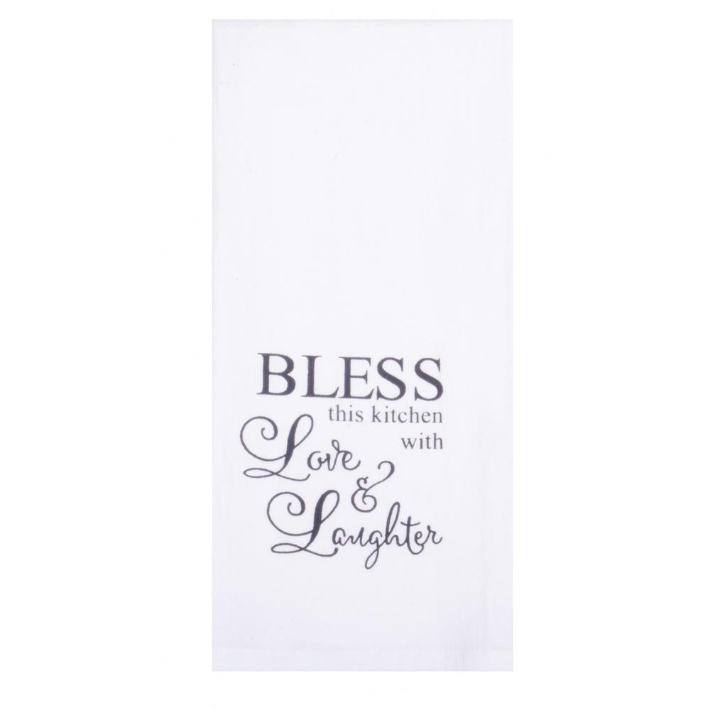 "Bless this Kitchen 18"" x 28"" White - Set of 2 - Interiors by Elizabeth"
