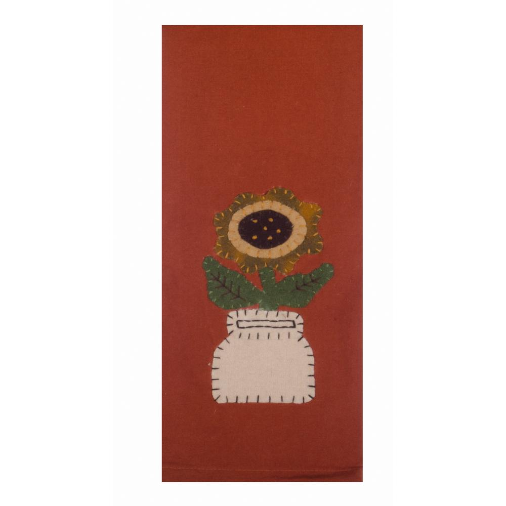 "Mason Sunflower 18"" x 28"" Orange - Set of 2 - Interiors by Elizabeth"