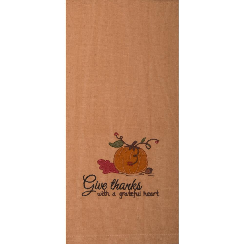 Give Thanks With A Grateful Heart Emb Towel-  Interiors by Elizabeth