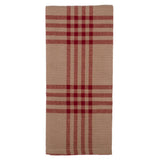 Oat-Barn Red Chesterfield Check Barn Red Towel - Set of Six - Interiors by Elizabeth