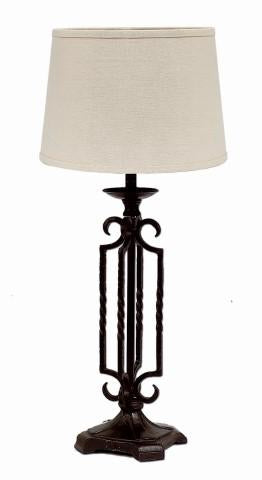 Black Open Metal Table Lamp - Interiors by Elizabeth
