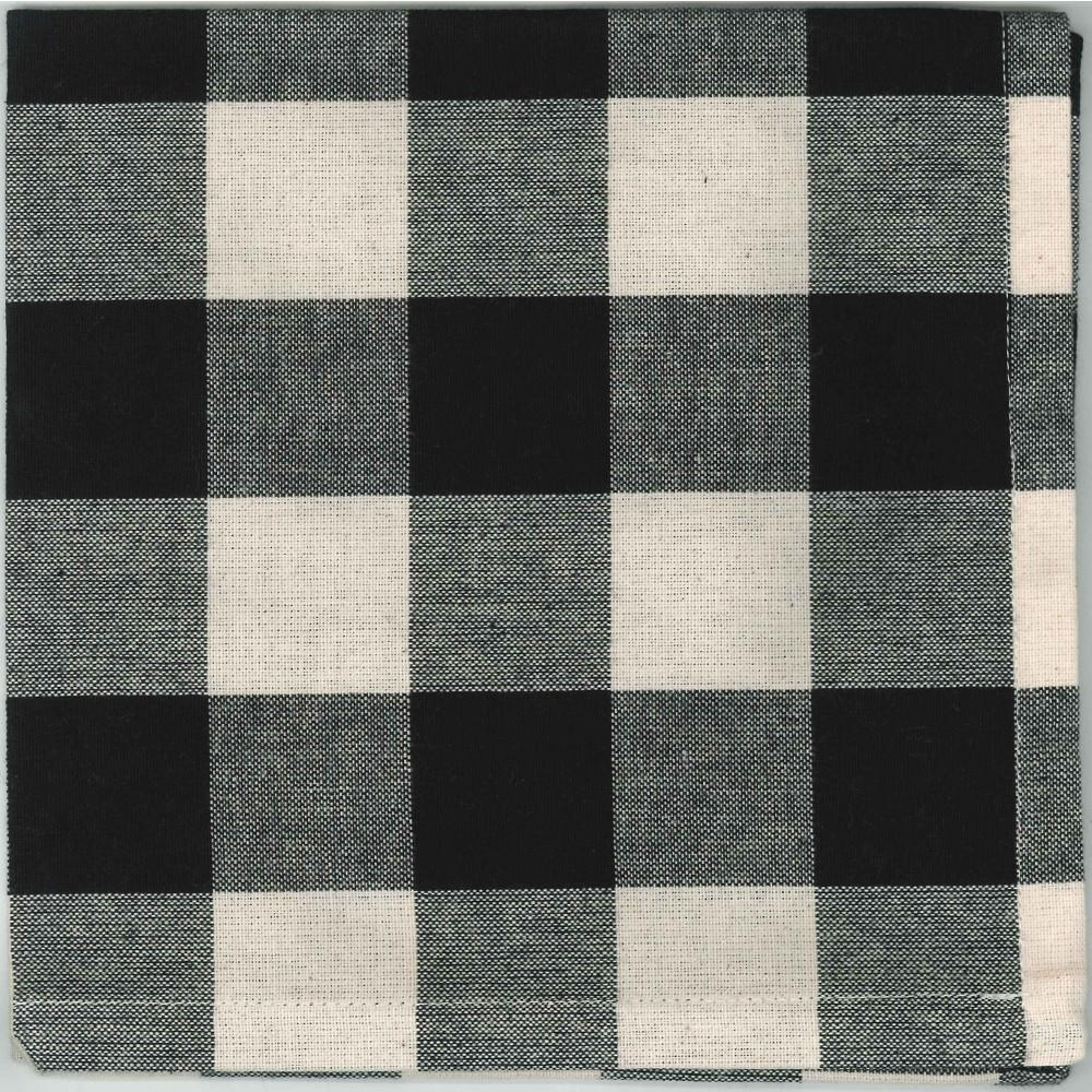 Black-Buttermilk Buffalo Check Napkin - Set of Six - Interiors by Elizabeth
