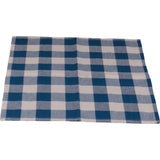 Colonial Blue-Buttermilk Buffalo Check Napkin - Set of Six - Interiors by Elizabeth