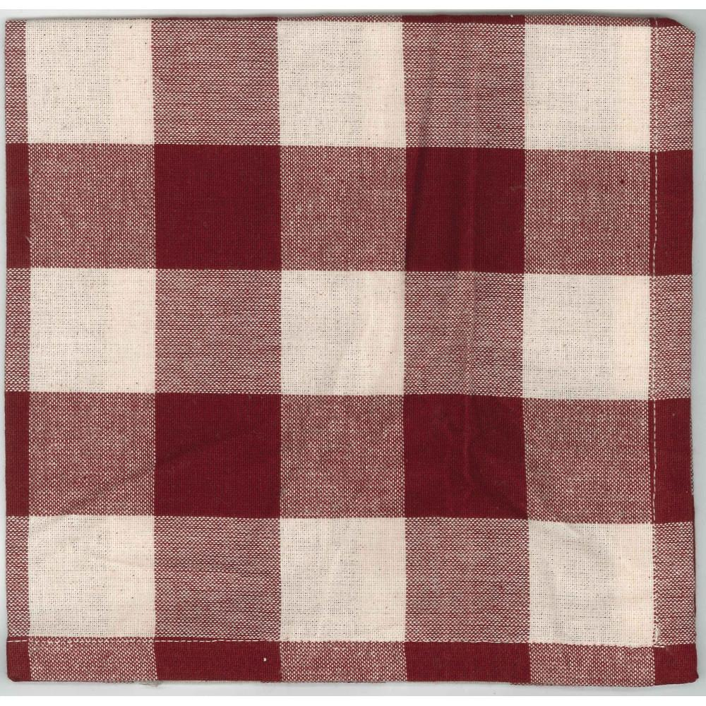Barn Red-Buttermilk Buffalo Check Napkin - Set of Six - Interiors by Elizabeth