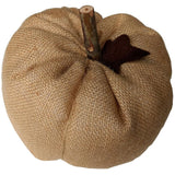 "Stuffed Pumpkin Ornament 4"" x 3"" Burlap - Interiors by Elizabeth"