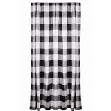 "Buffalo Check 72"" x 63"" (2 pcs) (pair of fabric tiebacks included) Black - White - Interiors by Elizabeth"