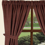 "Barn Red-Oat Philmont Jacquard Drapery 86"" Panels - Lined - Interiors by Elizabeth"