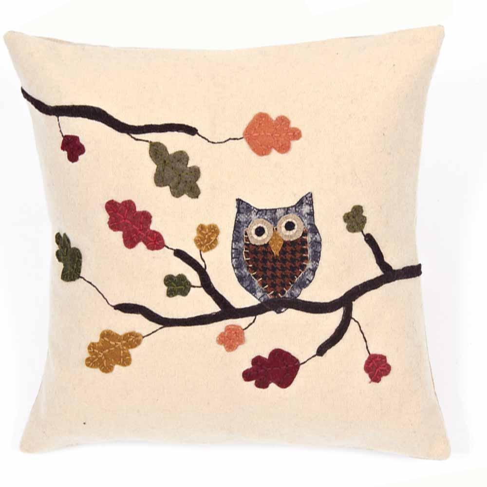 Harvest Owl Pillow - Interiors by Elizabeth