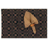 Black - Mustard Loverƒ??s Knot Jacquard Placemat - Set of Six - Interiors by Elizabeth