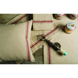 Grain Sack-Barn Red Grain Sack Stripe Barn Red Placemat - Set of Six - Interiors by Elizabeth
