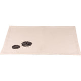 Zinnia Black - Grain Sack Cream Placemat - Set of Six - Interiors by Elizabeth