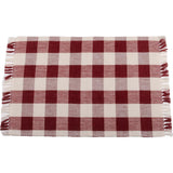 Barn Red-Buttermilk Buffalo Check Placemat - Set of Six - Interiors by Elizabeth