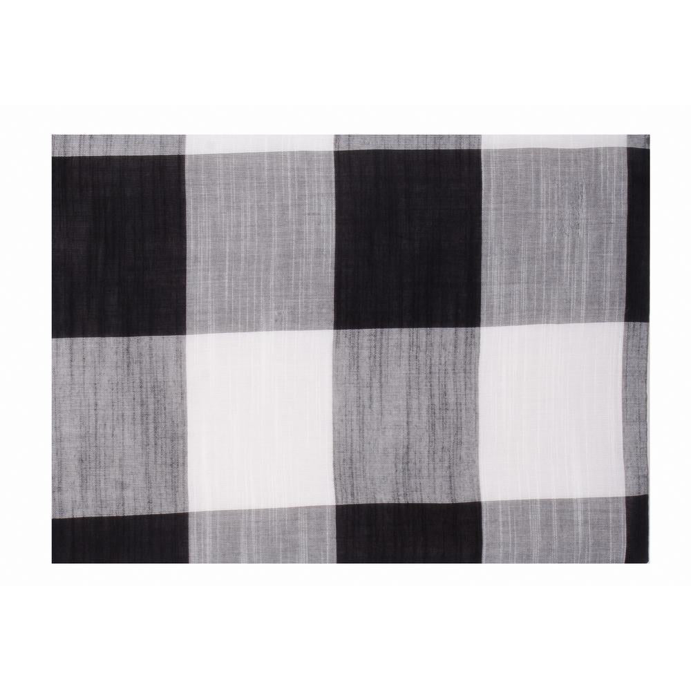"Buffalo Check 14"" x 18"" Black - White - Set of 6 - Interiors by Elizabeth"