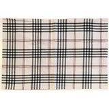 "Chesterfield Check 21"" x 31"" Cream - Black - Red - Interiors by Elizabeth"