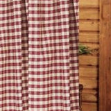 Barn Red-Nutmeg Heritage House Check Barn Red Shower Curtain - Interiors by Elizabeth