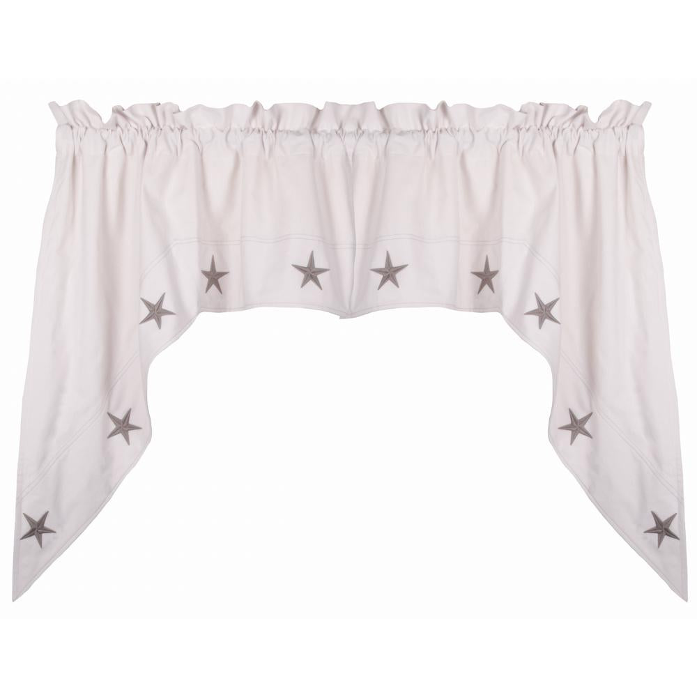 "Danville Star 72"" x 36"" (2 pcs) Cream / Grey Star - Interiors by Elizabeth"