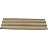 "Grain Sack Stripe Oat - Black Table 45"" Runner - Interiors by Elizabeth"